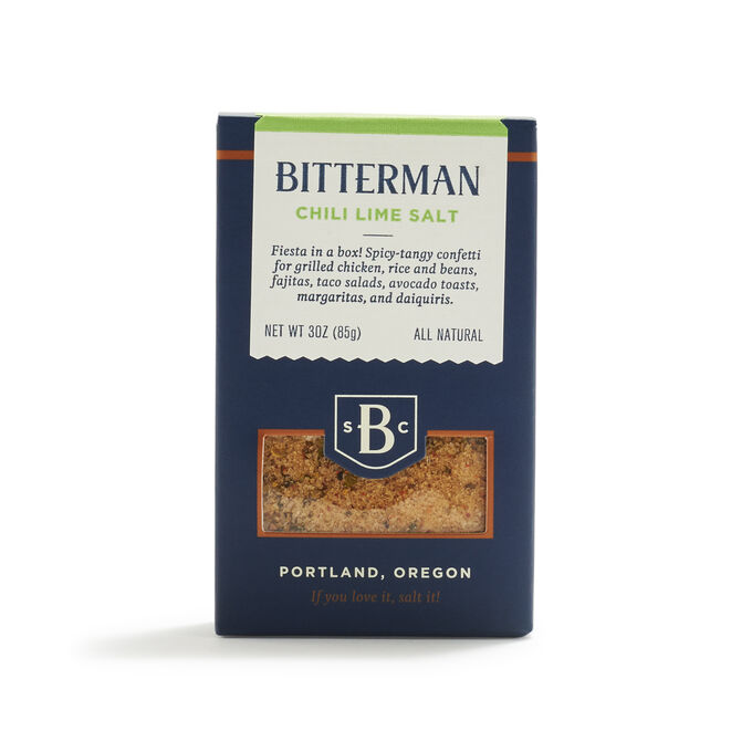 Bitterman Chili Lime Salt, 3 oz.
