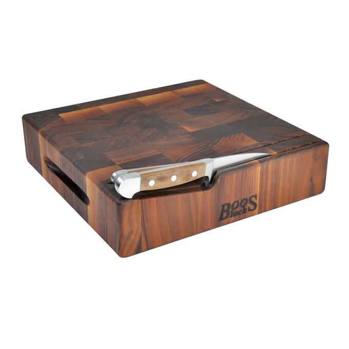 John Boos & Co. End-Grain Square Walnut Chopping Block