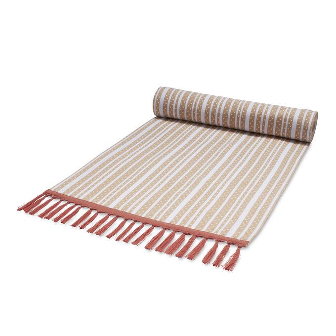 """Woven Stripe Table Runner, 108"""" x 16"""""""