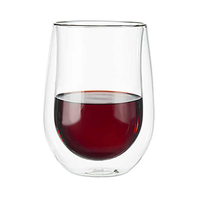 Zwilling J.A. Henckels Sorrento Double-Wall Stemless Red Wine Glasses, Set of 2
