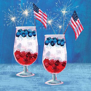 Patriotic Parfait Cocktail Napkins, Set of 20