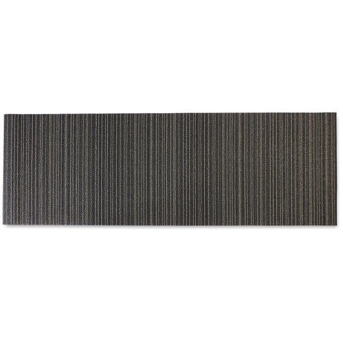 Chilewich Skinny Stripe Shag Mat, Steel