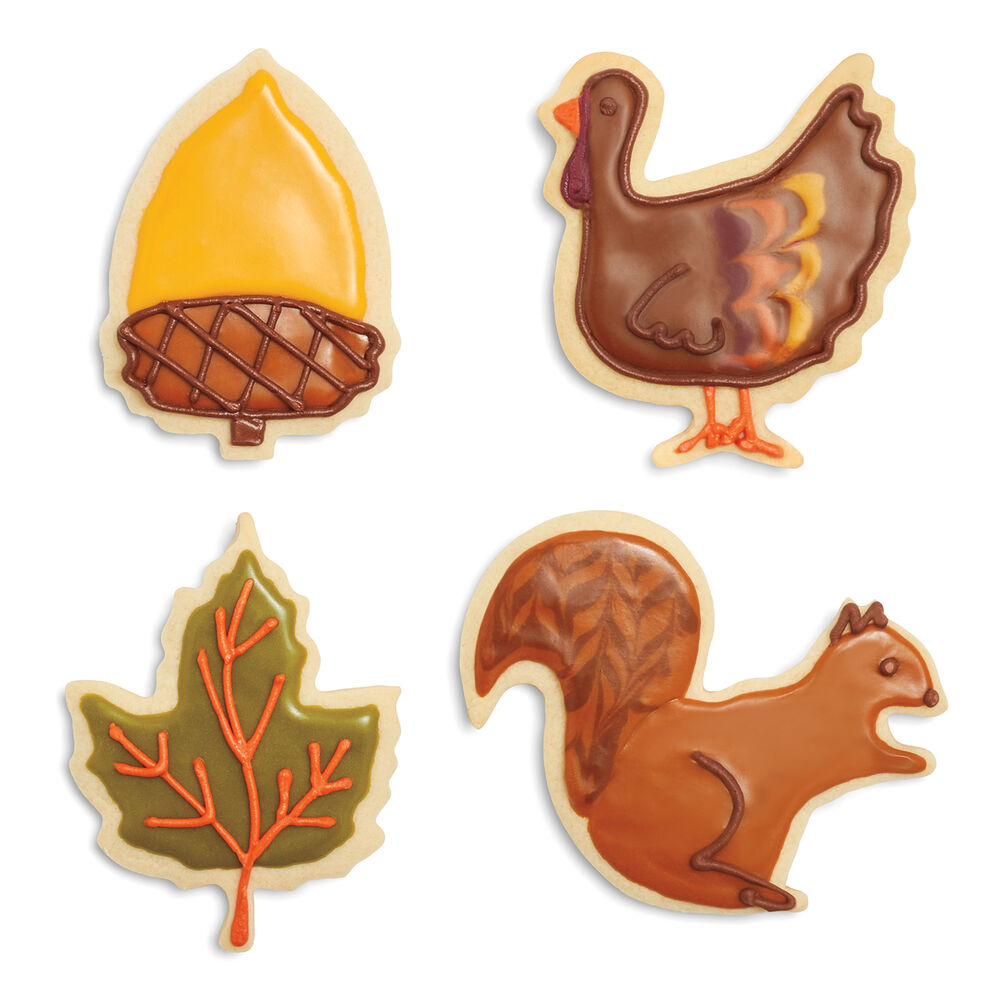 Harvest Cookie Cutters, Set of 4