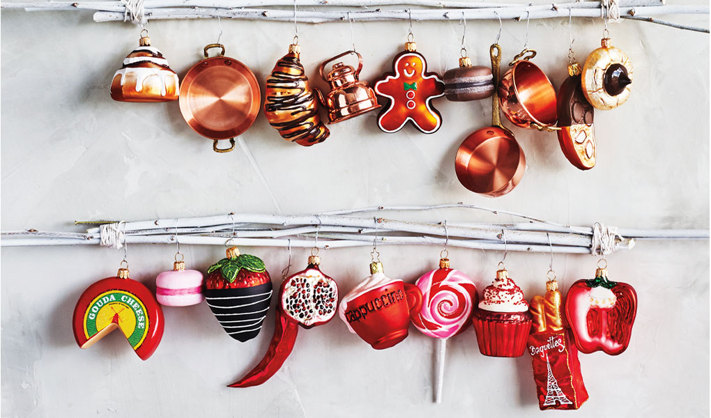 Hand blown glass holiday ornaments