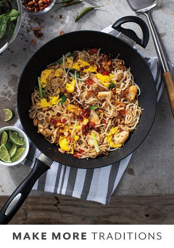 Scanpan nonstick wok with phad thai