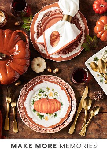Pumpkin fall dinnerware