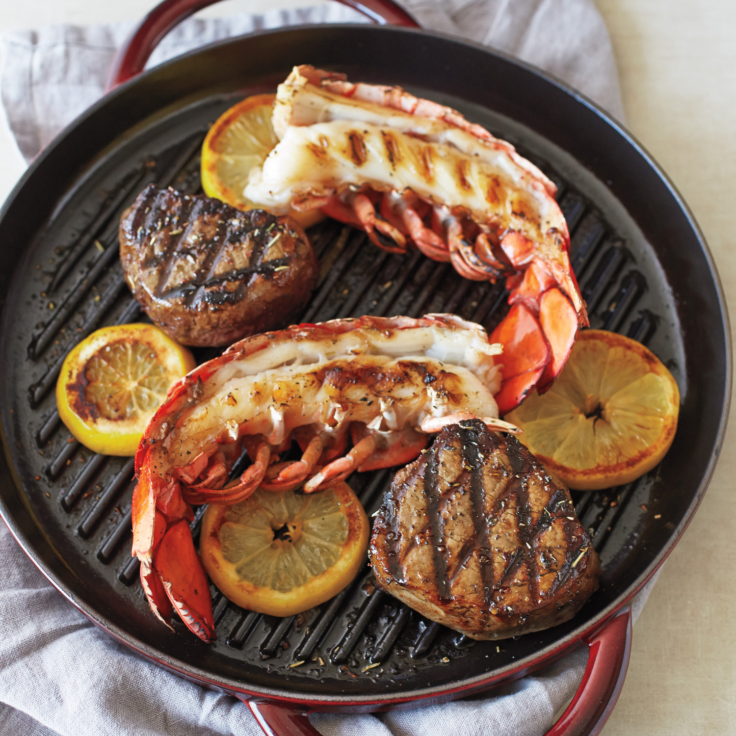 Surf And Turf In The Staub Steam Grill Recipe Sur La Table