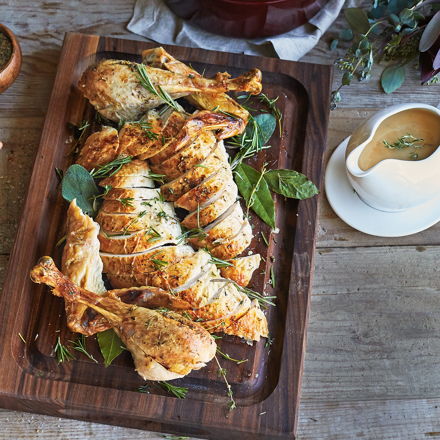 Dry Brined Turkey With Savory Herb Butter Recipe Sur La
