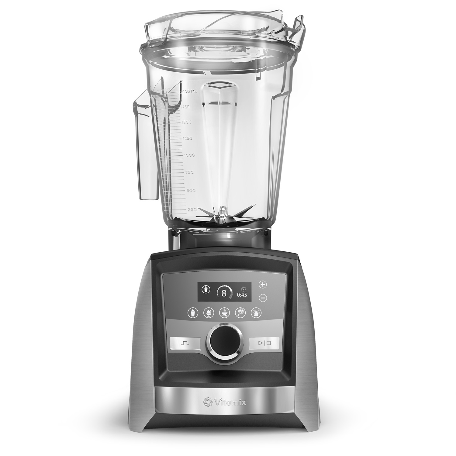 Vitamix blender with touchscreen panel