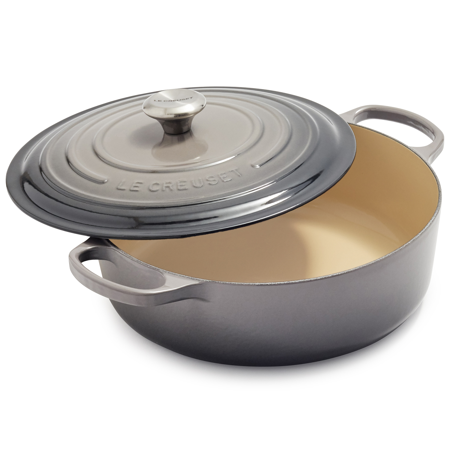 Le Creuset wide Dutch oven