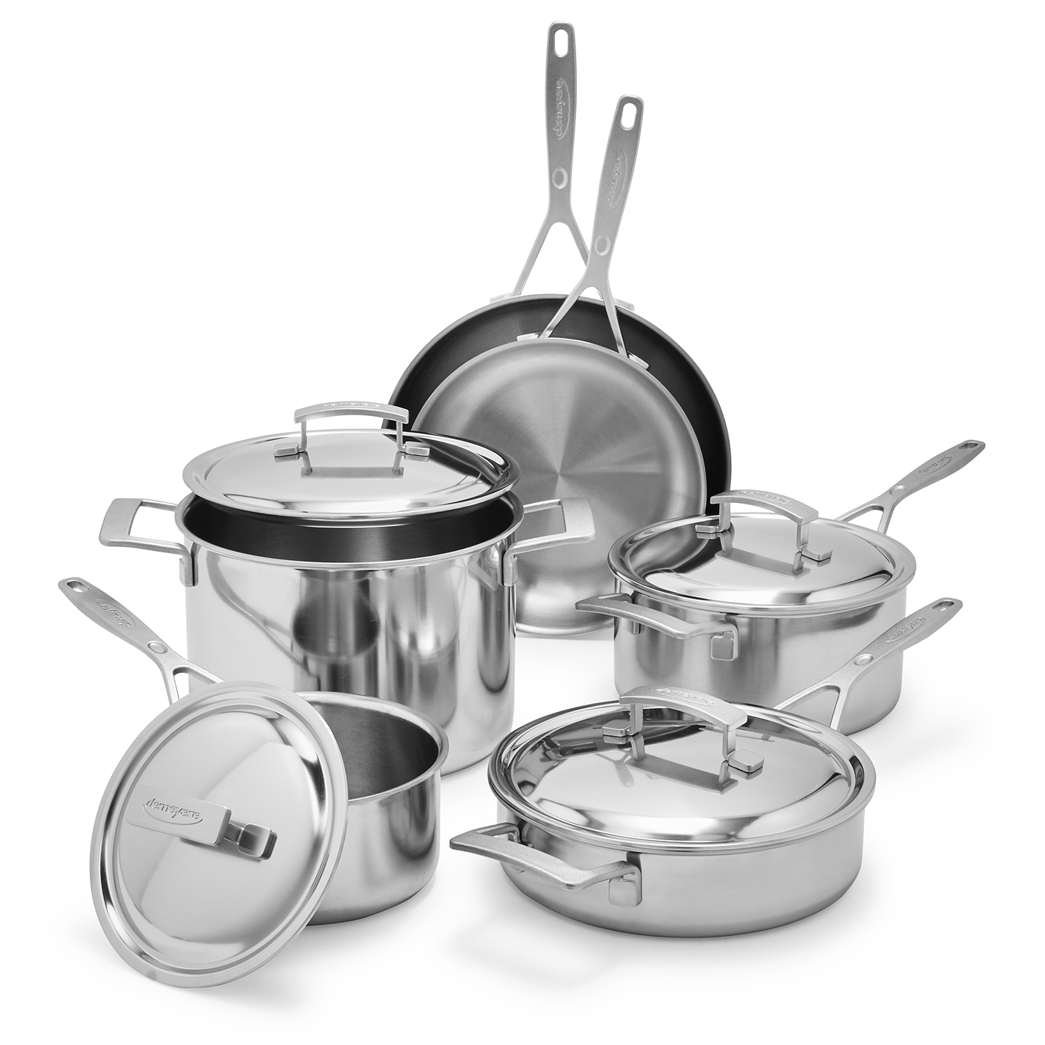 Demeyere 10-piece cookware set with thermo lids