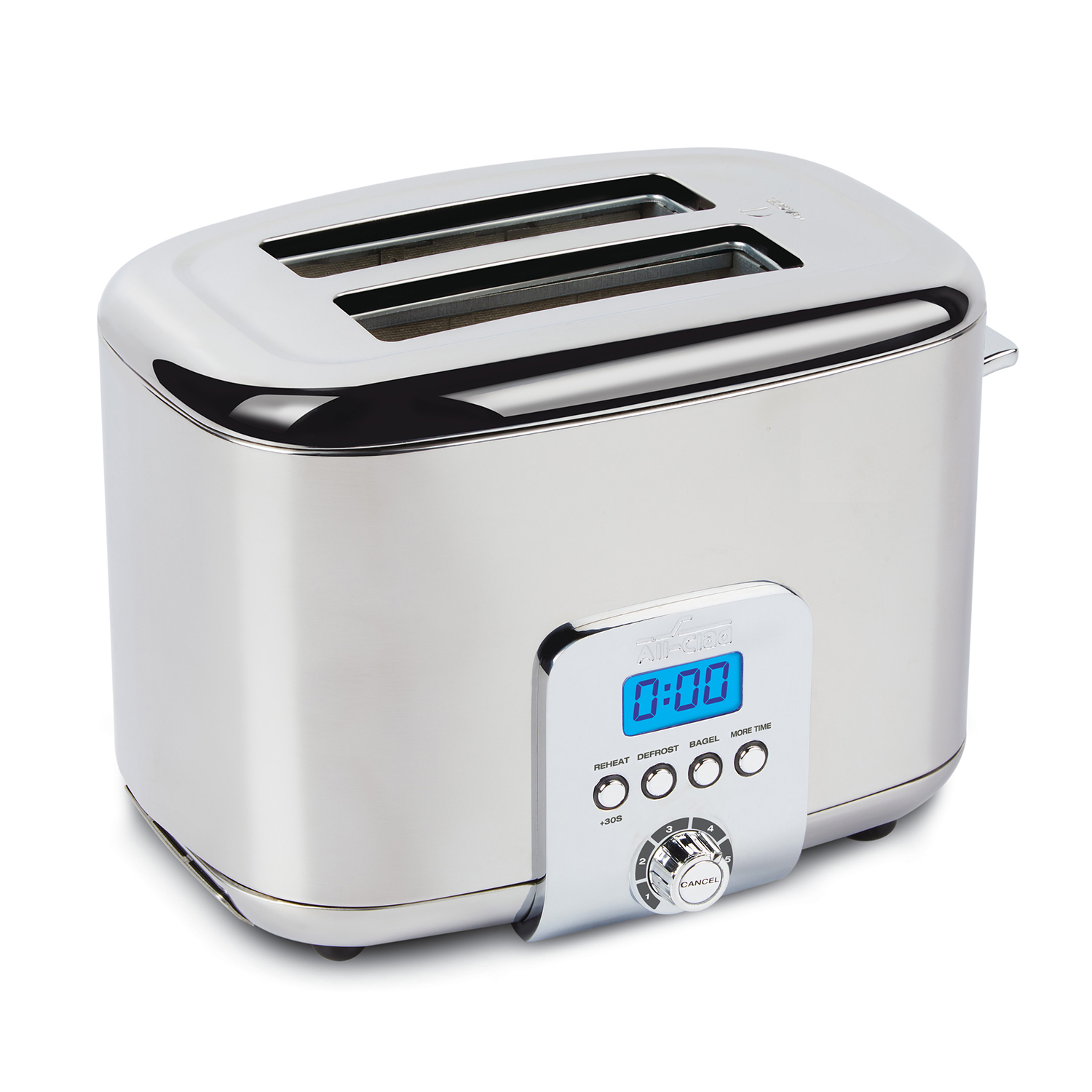 All Clad Stainless Steel 2 Slice Digital Toaster Sur La
