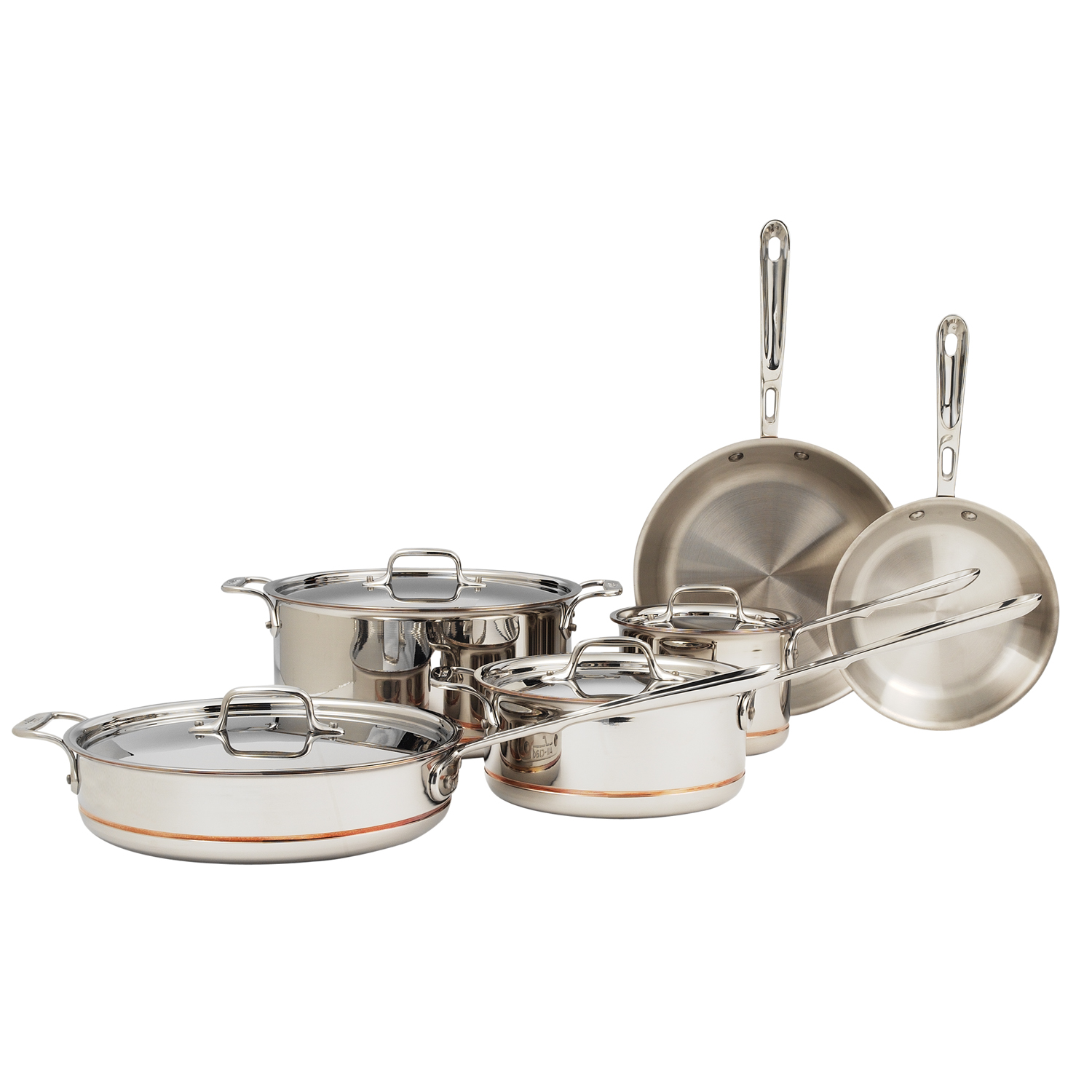All-Clad copper core 10-piece set