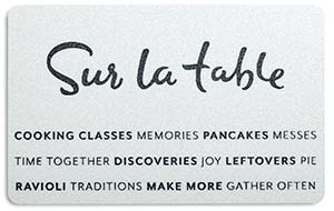 Sur La Table Reasons to Gather Gift Card