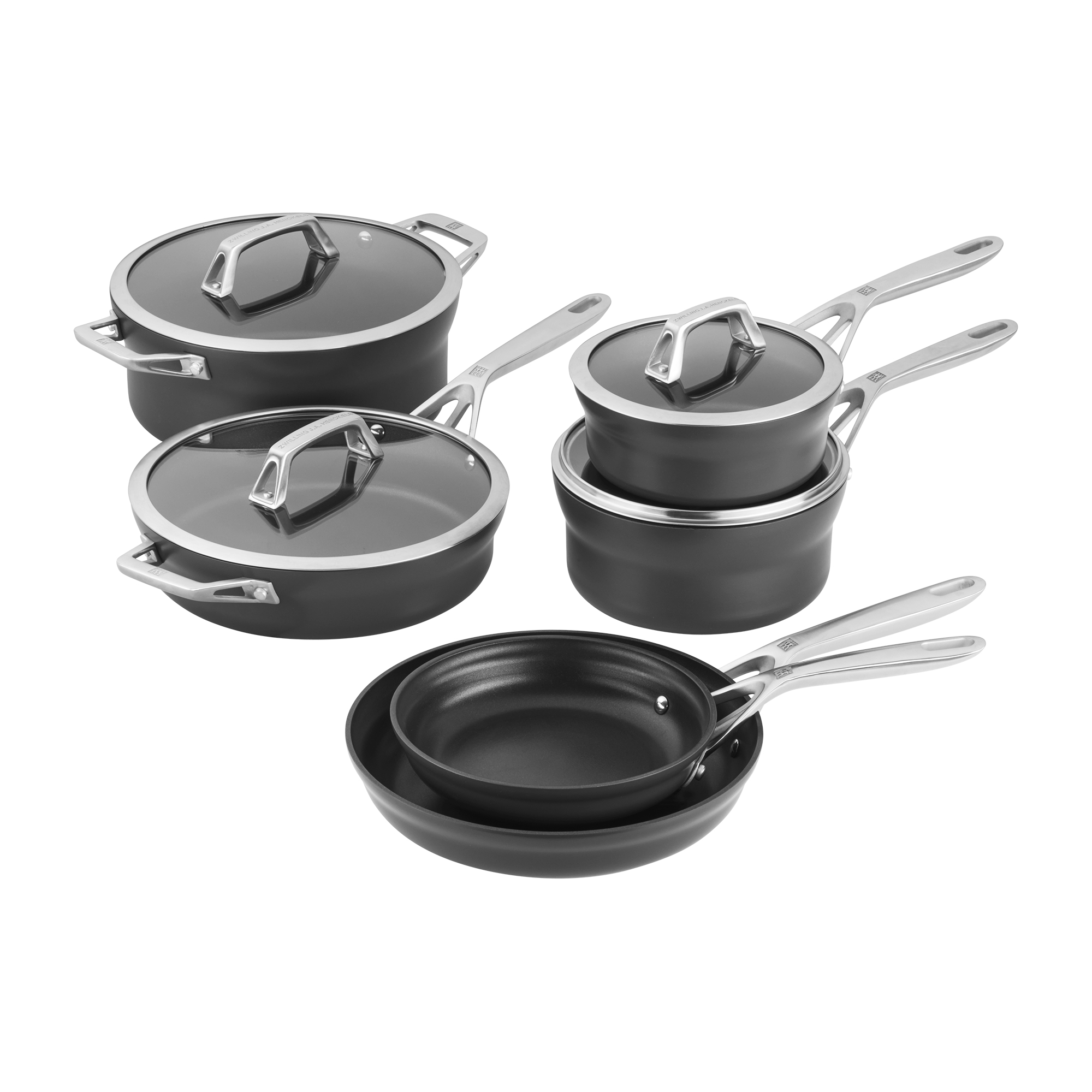 Zwilling Motion 10 Piece Hard Anodized Aluminum Nonstick