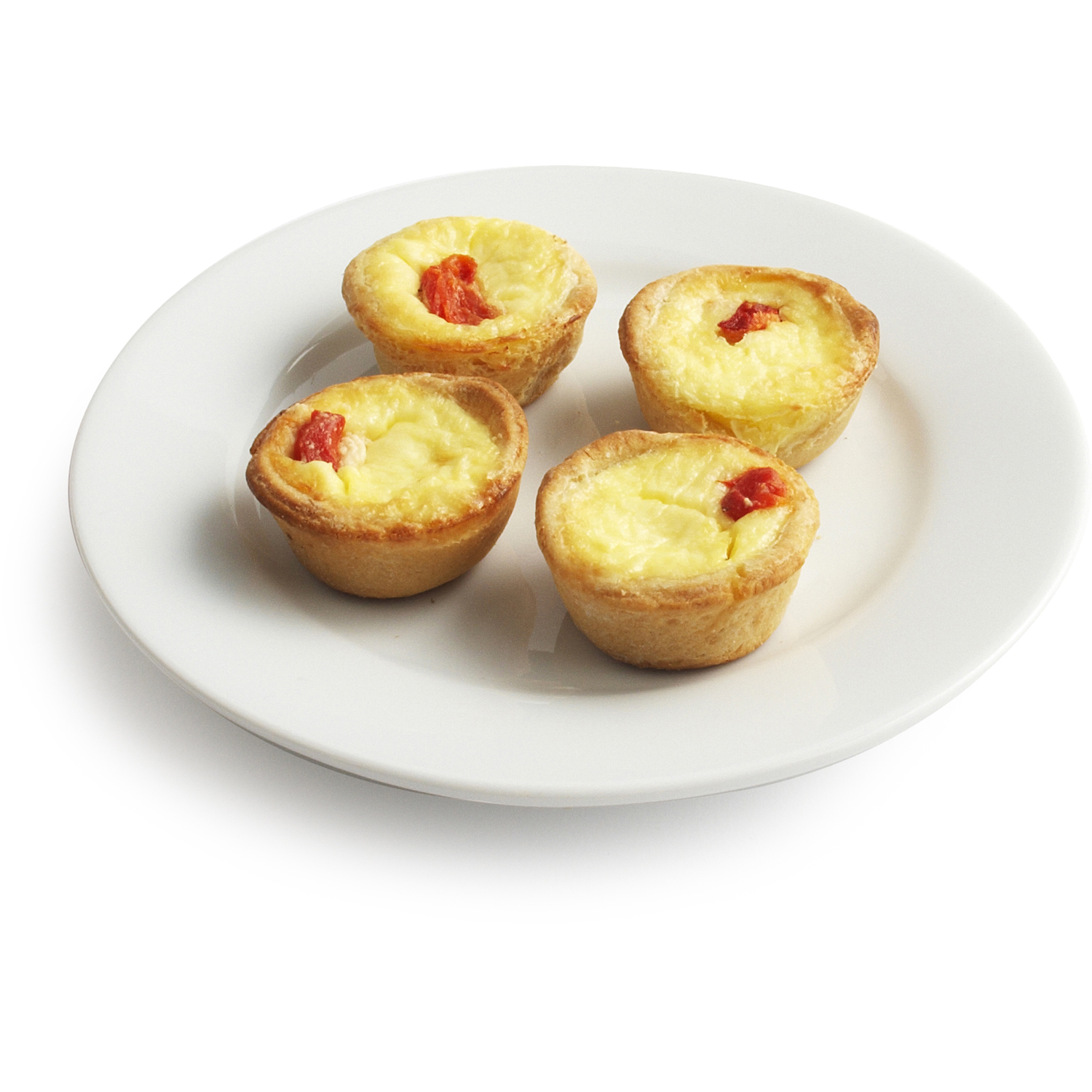 Goat Cheese And Roasted Red Pepper Quiche 45 Piece Tray