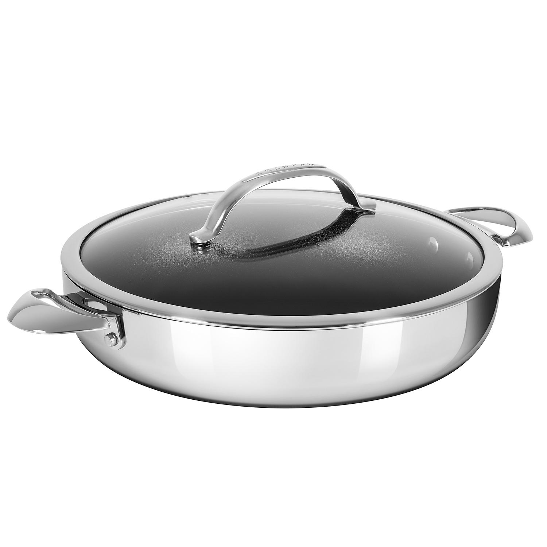 Scanpan Haptiq Chef S Pan With Lid 5 5 Qt Sur La Table