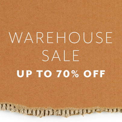 Warehouse sale up to 70% off
