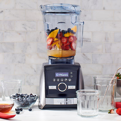 Vitamix blender with fruit