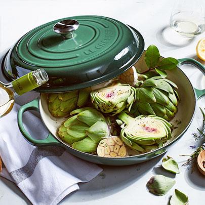 New Le Creuset Artichoke cookware