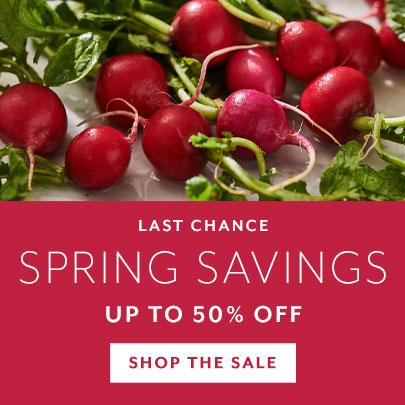 Spring Savings up to 50% off