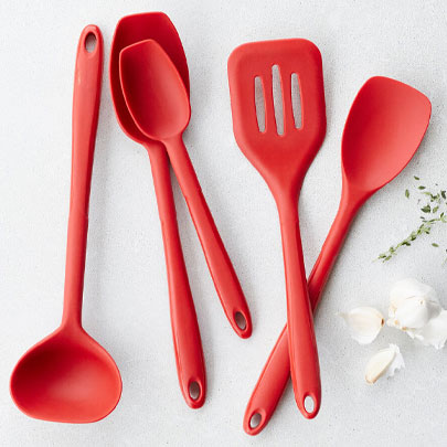 Sur La Table silicone kitchen tools in red
