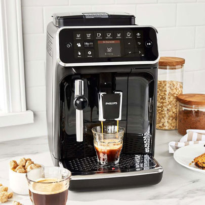 Philips 4300 espresso maker in black