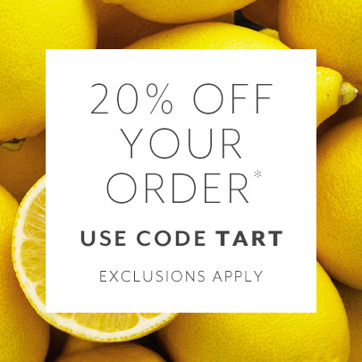 20% off your order with code TART