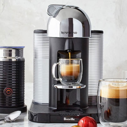 Nespresso espresso and coffee makers