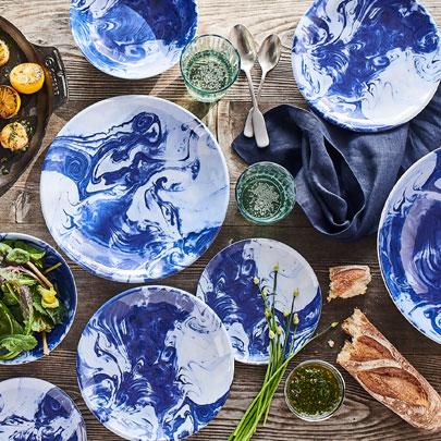 Oceana melamine outdoor dinnerware