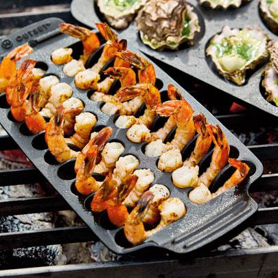 Cast Iron Shrimp Pan