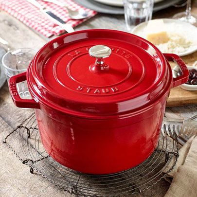 top 25 gifts featuring Staub tall cocotte in red