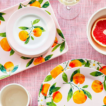 Citrus dinnerware