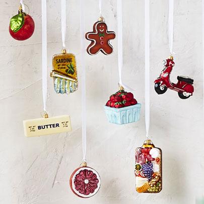 Sur La Table glass Christmas ornaments