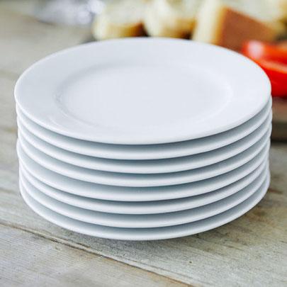 White Bistro dinnerware