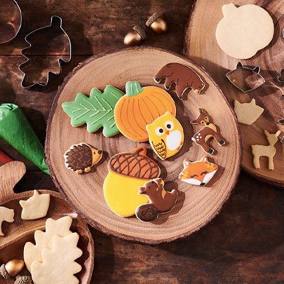 Fall woodland creatures cookie cutters