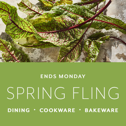 Spring fling event, save on Dining, Cookware and Bakeware