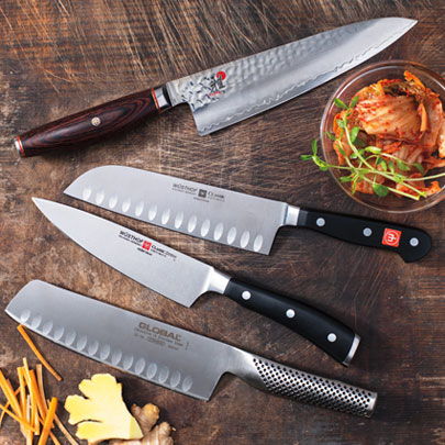 chef's knives at Sur La Table