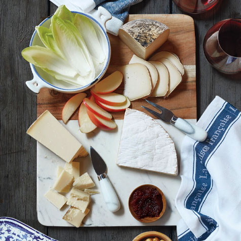 cheese board with spreads