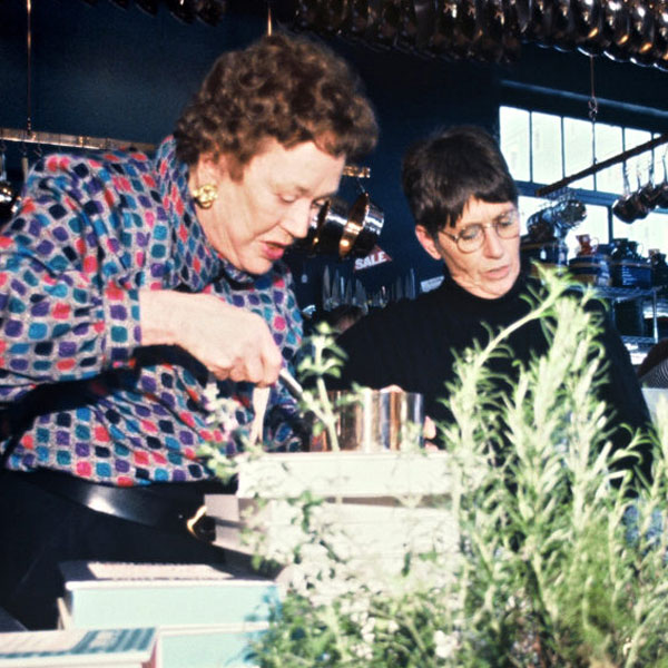 Julia Child and Shirley Collins
