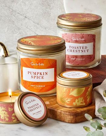 Sur La Table scented candles