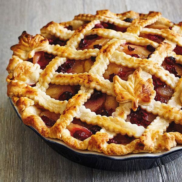Autumn Leaf Cranberry Apple Pie