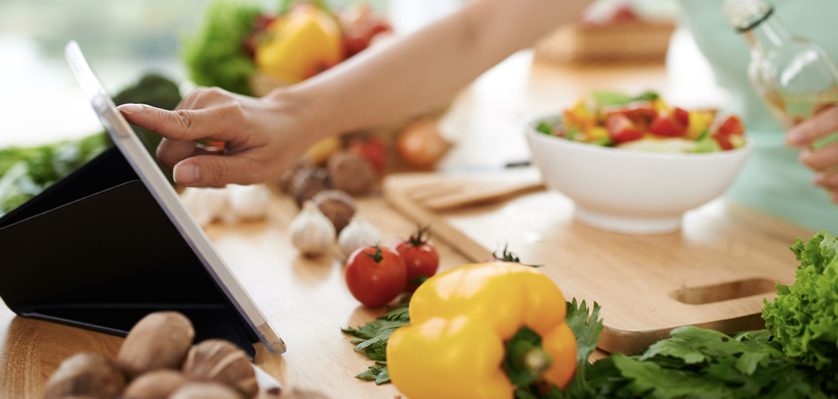 chef preparing fresh vegetables in kitchen