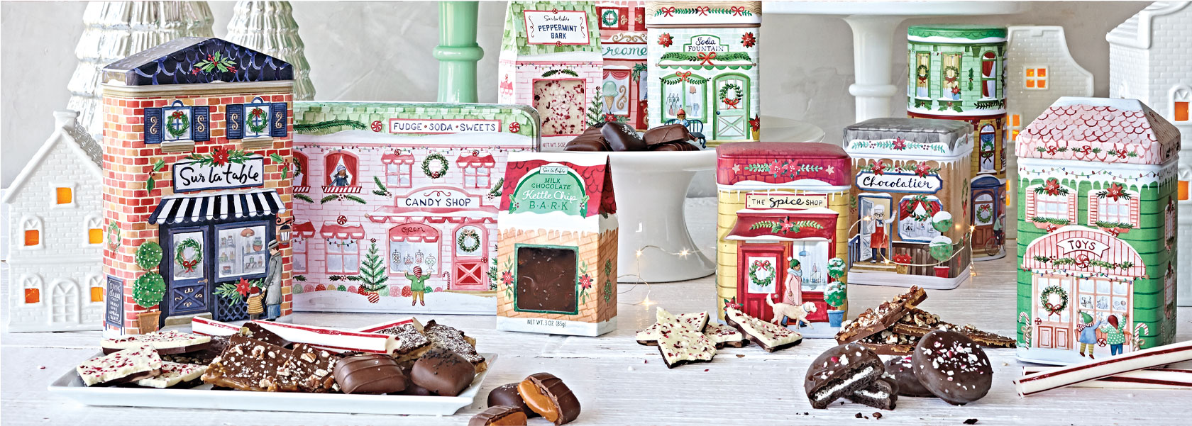 Sur La Table confections in holiday tins