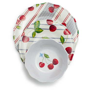 Pique-Nique Melamine Dinnerware, Set of 12