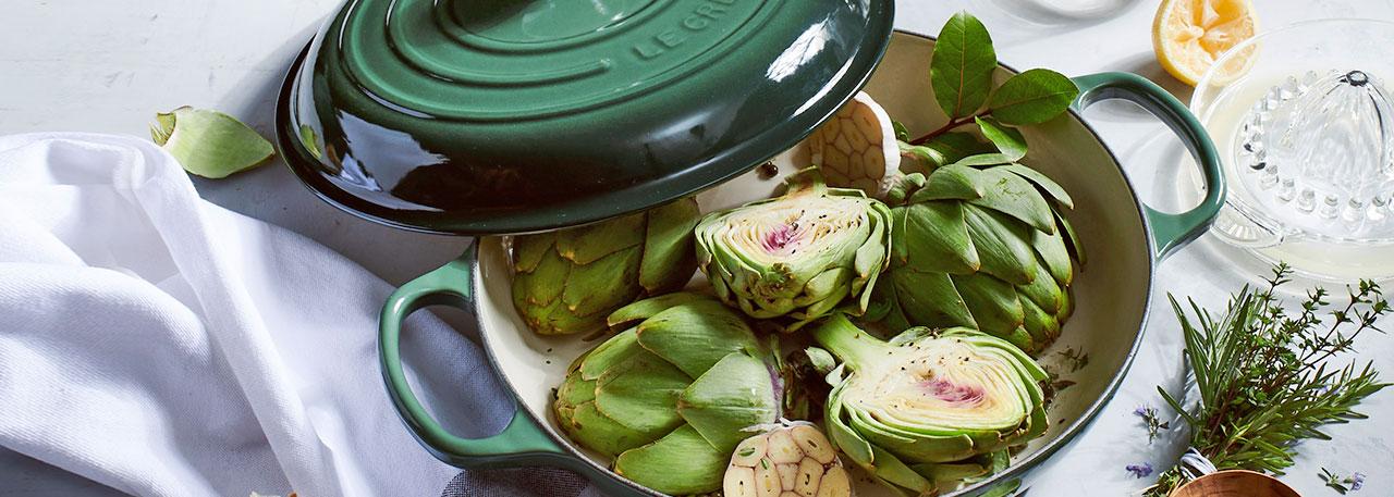 Le Creuset Artichoke cookware
