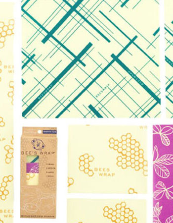 Bee's Wrap Reusable Beeswax Variety Wraps Set of 7