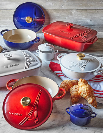 Le Creuset Eiffel Tower cookware and bakeware