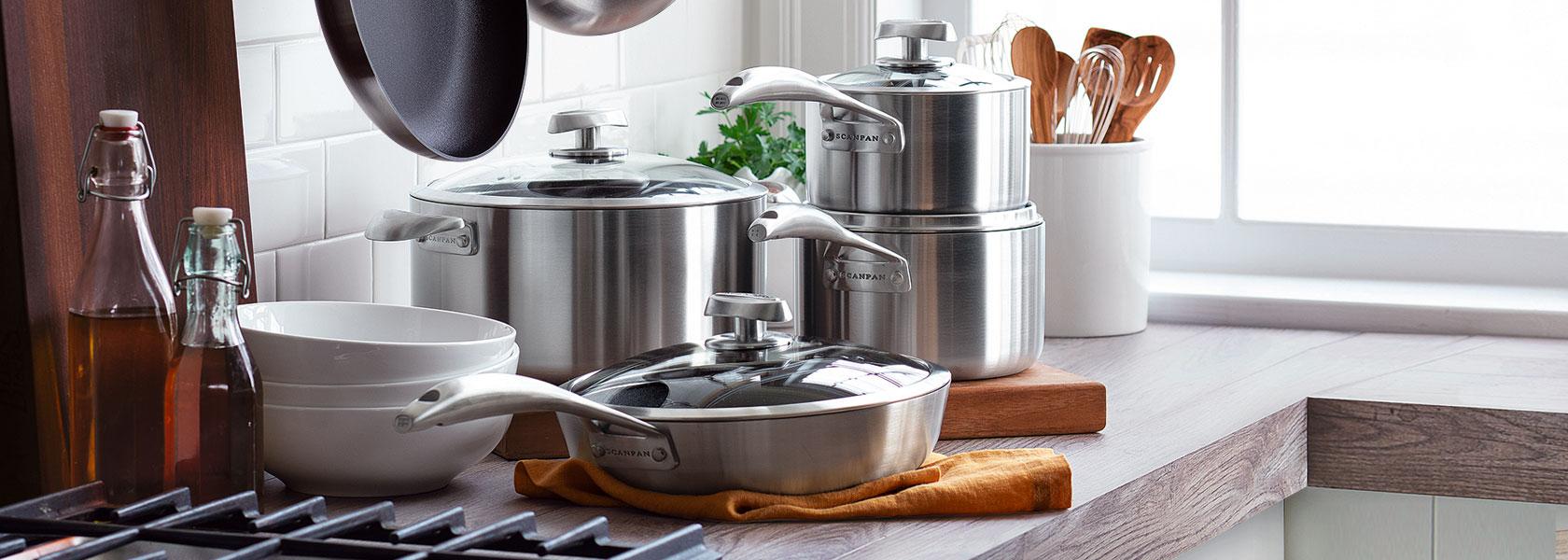 Scanpan CS+ nonstick cookware set