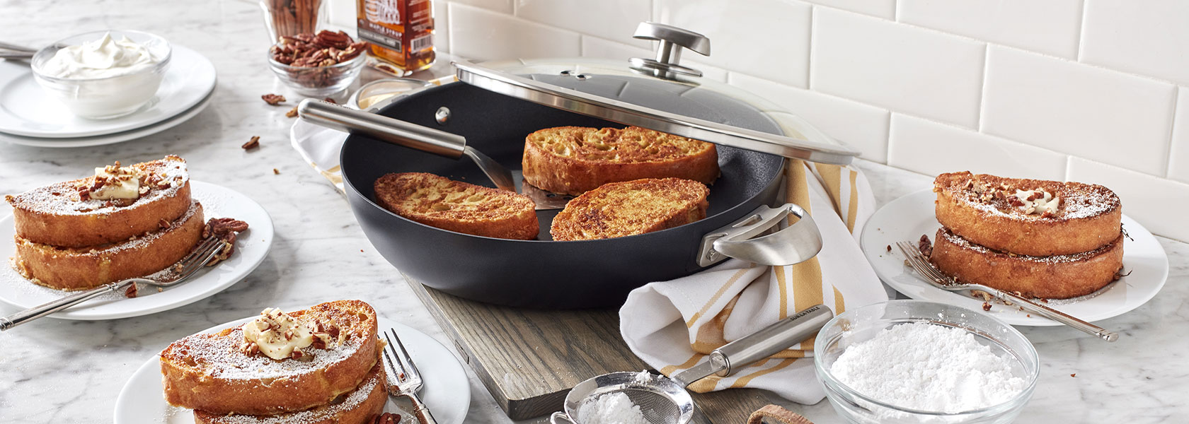 Scanpan Pro S+ nonstick chef's pan with French toast